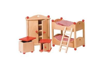 Meubles de poupées style campagne - chambre des enfants - accessoires pour  maison goki 51953