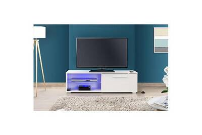 Meuble Tv Maisonetstyles Meuble Tv Led Blanc Tays Darty