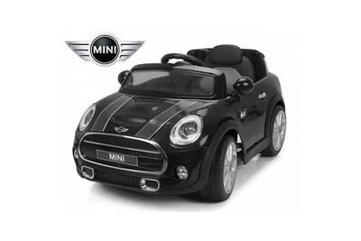 v hicule lectrique mini voiture lectrique enfant mini cooper s si ge cuir 12v noir darty. Black Bedroom Furniture Sets. Home Design Ideas