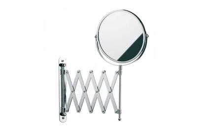 Miroir de salle de bain wadiga miroir mural grossissant x5 double face sur bras extensible - Miroir grossissant salle de bain mural ...