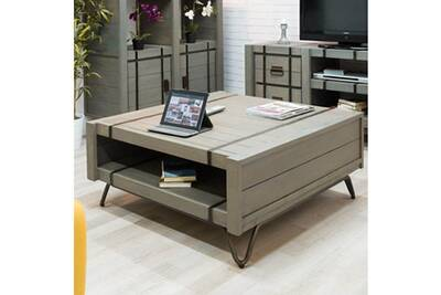 Gris Table En 100x105 De Rectangulaire Loft Salon Mindi ywvnNO8m0
