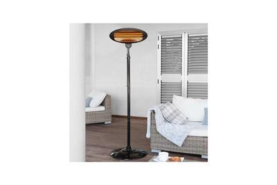 Radiateur électrique Dealstore Chauffage de terrasse 2000 w ipx4 - ka-5287 noir