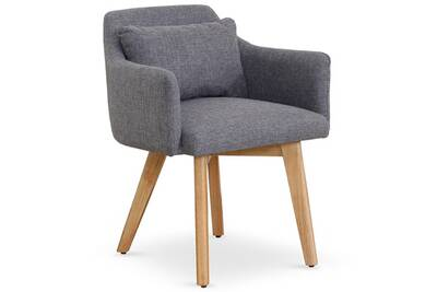 gris clair fauteuil gybson scandinave tissu Chaise eWHYED92I