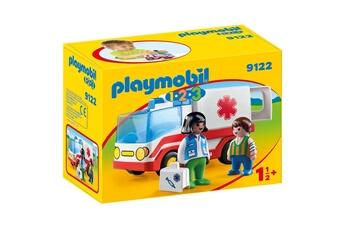 Playmobil PLAYMOBIL 9122 1.2.3 - ambulance avec service de soins et enfant