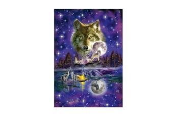 Puzzles Schmidt Puzzle 1000 pièces : loup au clair de lune