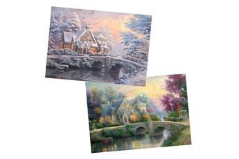 Puzzles Schmidt Puzzle 2 x 1000 pièces : thomas kinkade : lamplight manor