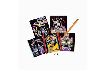Peinture et dessin AU SYCOMORE Les ateliers du calme : scratch art - chats