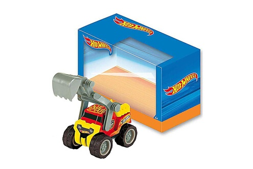 Véhicule de chantier hot wheels - beach fun : camion bulldozer