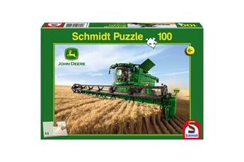 Puzzles Schmidt Puzzle 100 pièces : john deere : moissonneuse batteuse