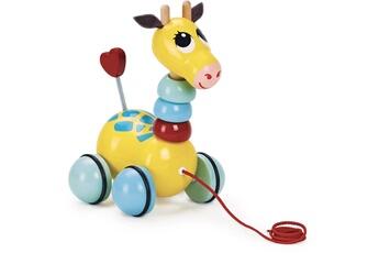 Jouets premier âge VILAC Jouer à tirer : flip flap la girafe