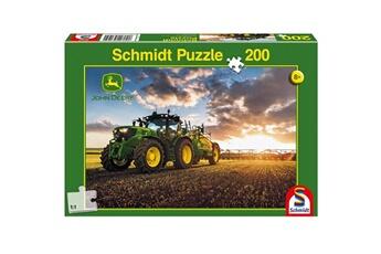 Puzzles Schmidt Puzzle 200 pièces : john deere : tracteur 6150r avec tonne à lisier