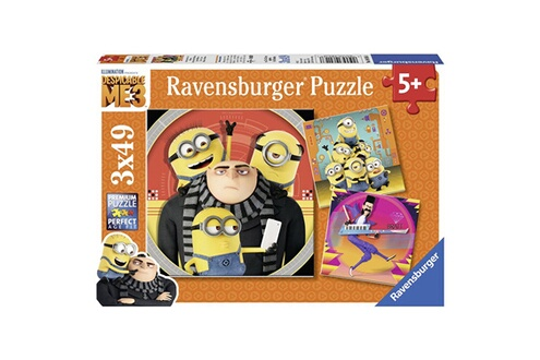 Puzzles 3 x 49 pièces : moi  moche et méchant 3