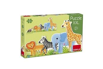 Puzzles Goula Puzzle xxl 16 pièces : les animaux de la jungle