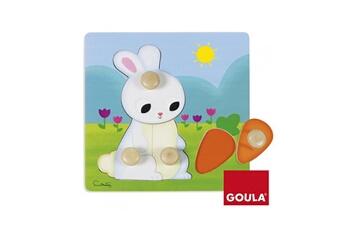 Puzzles Goula Puzzle en bois 4 pièces : lapin