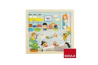 Puzzles Goula Puzzle en bois 16 pièces : chez le vétérinaire