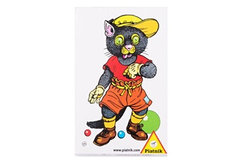 Jeux en famille Piatnik Jeu de cartes mistigri : rétro chat