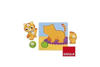 Puzzles Goula Puzzle en bois 4 pièces : chat