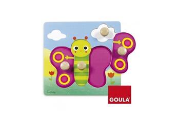 Puzzles Goula Puzzle en bois 4 pièces : papillon