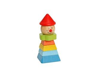 Eveil & doudou bio EVEREARTH Clown à empiler chapeau rouge everearth