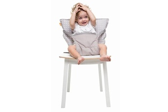 Chaise haute Baby To Love Chaise nomade babytolove 'white stars' - gris