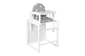 Chaise haute ROBA Chaise haute convertible collection 'little stars' roba 88cm - blanc