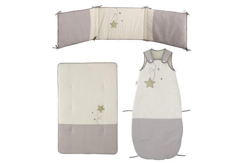 P'tit Basile Pack gigoteuse évolutive couverture tour de lit p'tit basile modèle pluie d'étoiles