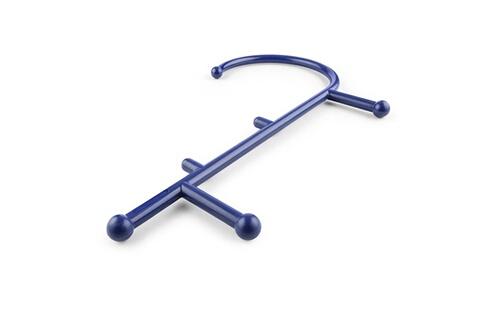 Capital Sports Mr trigger crochet d'auto massage pour le dos , le cou et les épaules - 6 picots - bleu