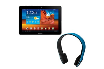 Samsung Pack tablette galaxy tab 10.1 wifi - 16 go avec casque bluetooth bleu