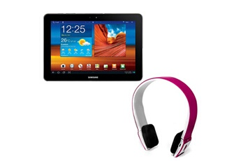 Samsung Pack tablette galaxy tab 10.1 wifi - 16 go avec casque bluetooth rose