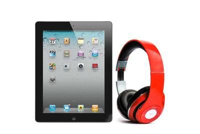 tablette tactile apple pack ipad 2 16go wifi noir avec casque bluetooth rouge darty. Black Bedroom Furniture Sets. Home Design Ideas