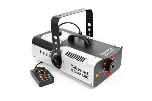 S1500led machine à fumée 1500w led tricolore rvb - contrôle par 6 canaux dm