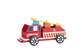 Véhicules miniatures Be Toy's Camion de pompier à construire en bois