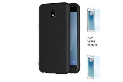 protection cran smartphone funcase samsung galaxy j3 2017 coque silicone souple noir ultra. Black Bedroom Furniture Sets. Home Design Ideas