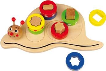 Jouets premier âge SMALL FOOT Puzzle à encastrer maison d´escargot