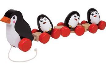 Jouets premier âge SMALL FOOT Famille de pingouins à tirer