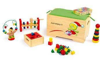 Jouets premier âge SMALL FOOT Coffre à jouets