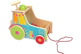 Jouets premier âge SMALL FOOT Jouet de motricité tracteur avec xylophone