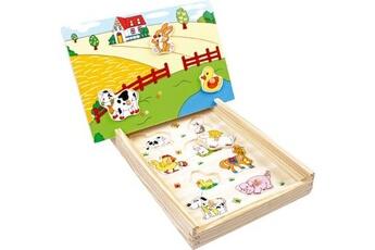 Jouets premier âge SMALL FOOT Puzzle aimanté «ferme»