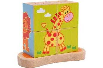 Jouets premier âge SMALL FOOT Cube à formes «animaux»