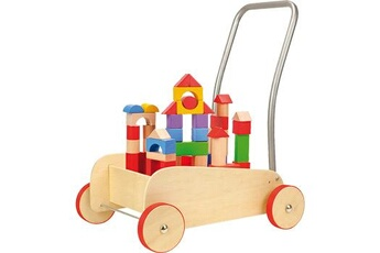 Jouets premier âge SMALL FOOT Chariot de marche avec frein \
