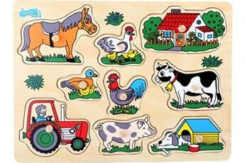 Jouets premier âge SMALL FOOT Puzzle à poser «la ferme»