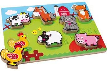 Jouets premier âge SMALL FOOT Puzzle «animaux de la ferme»