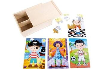 Jouets premier âge SMALL FOOT Boîte de puzzle 4 en 1 \