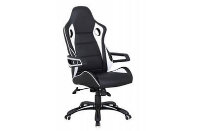 Fauteuil bureau comforium fauteuil de bureau ergonomique pvc noir et