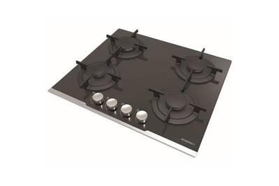 Table De Cuisson Gaz 60cm 4 Feux Verre Perle Noire Rgv64tfbpn