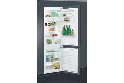 refrigerateur congelateur encastrable whirlpool r frig rateur combin int grable 275l a. Black Bedroom Furniture Sets. Home Design Ideas