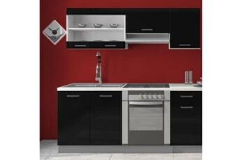 meuble de cuisine meubles cuisine complte dana noir laqu 1m80 6 meubles m6_011_1482_baltic_meubles