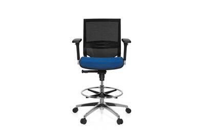 fauteuil bureau hjh office tabouret de travail tabouret de bureau top work 78 tissu maille. Black Bedroom Furniture Sets. Home Design Ideas