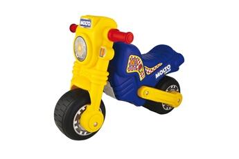Véhicule à pédales Molto Porteur moto cross bleu et jaune