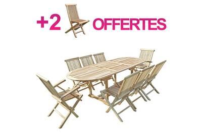 Ensemble table et chaise de jardin C&l Jardin Ensemble salon de ...